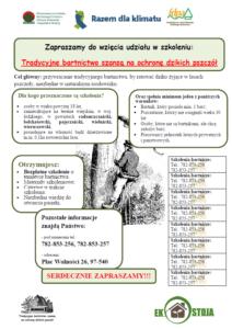 """2016 - """"Tradycyjne bartnictwo szansą na ochronę dzikich pszczół"""""""