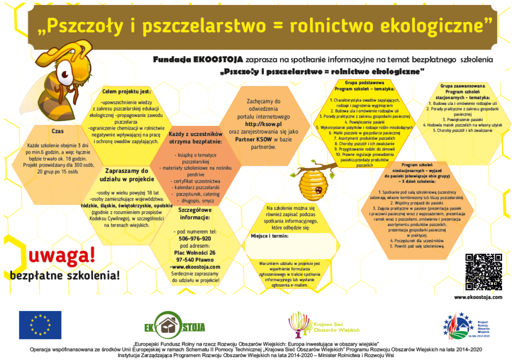 """Realizacja projektu """"Pszczoły i pszczelarstwo = rolnictwo ekologiczne"""""""