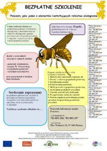 """2016 - """"Pszczoły jako jeden z elementów kształtujących rolnictwo ekologiczne"""""""